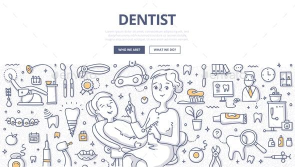 Dentist Doodle Concept - Health/Medicine Conceptual
