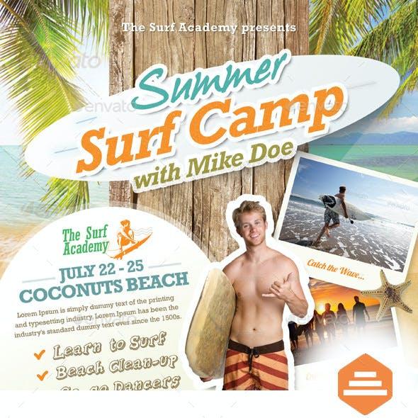 Summer Surf Camp Flyers
