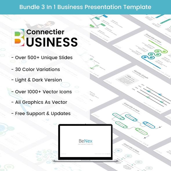 Bundle BeNex 3 In 1 Business Powerpoint Template 2018 - Business PowerPoint Templates