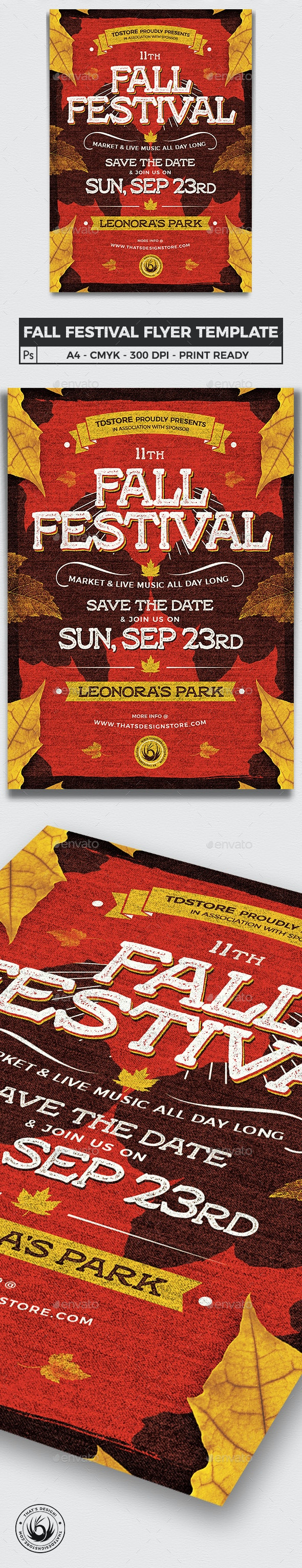 Fall Festival Flyer Template V2 - Clubs & Parties Events