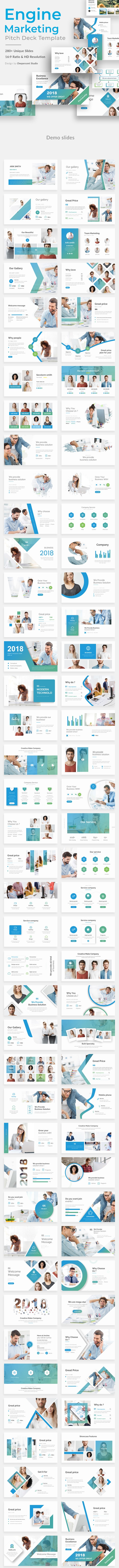 Engine Marketing Pitch Deck Powerpoint Template - Business PowerPoint Templates