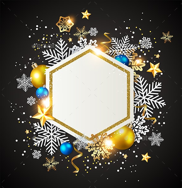 Abstract Christmas  Background with Decorations - Christmas Seasons/Holidays