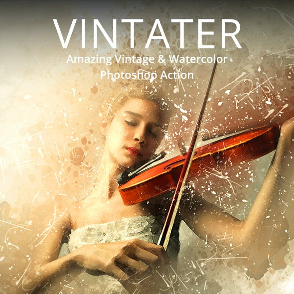 Vintater - Amazing Vintage And Watercolor Photoshop Action