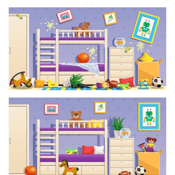 Children Room Interior Banners