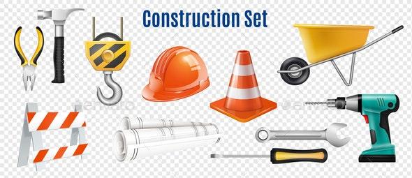 Construction Transparent Set - Miscellaneous Vectors