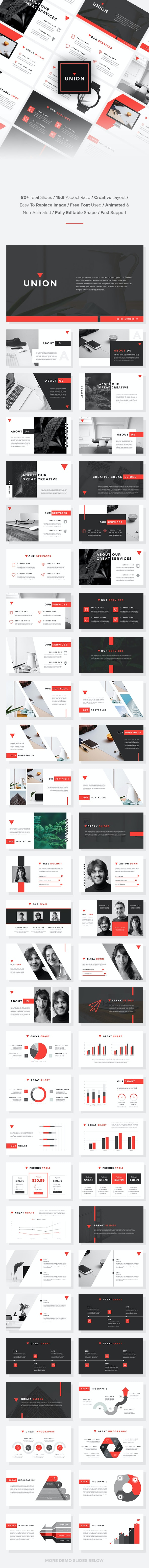 Union - StartUp Pitch Deck Keynote Template - Keynote Templates Presentation Templates