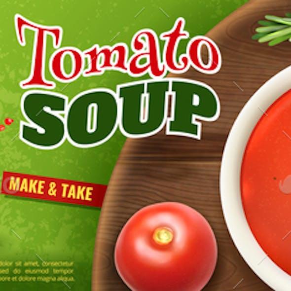 Realistic Tomato Soup Ad