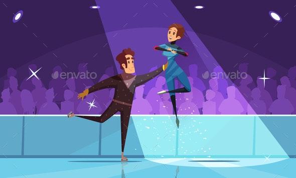 Figure Skating Composition - Sports/Activity Conceptual