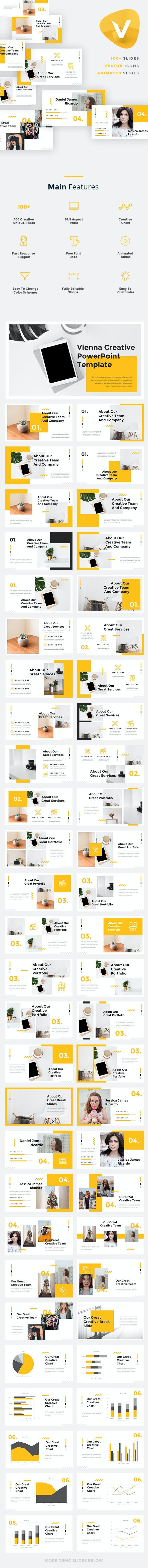 Vienna - Creative Google Slides Template - Google Slides Presentation Templates