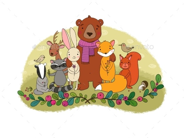 Cartoon Forest Animals - Animals Characters