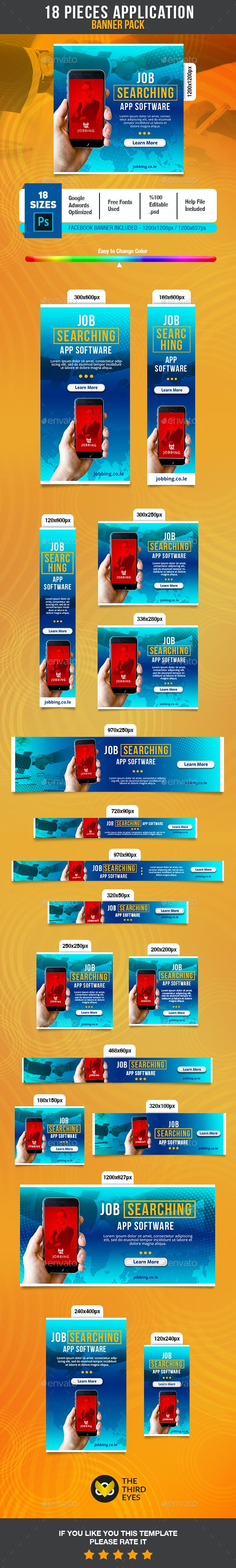 Business Application Banner - Banners & Ads Web Elements