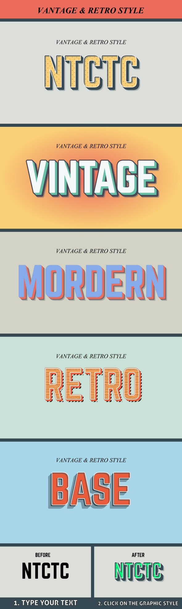 Vintage and Retro Graphic Style - Styles Illustrator
