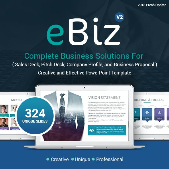 eBiz Complete Business Solutions PowerPoint Template - Updated