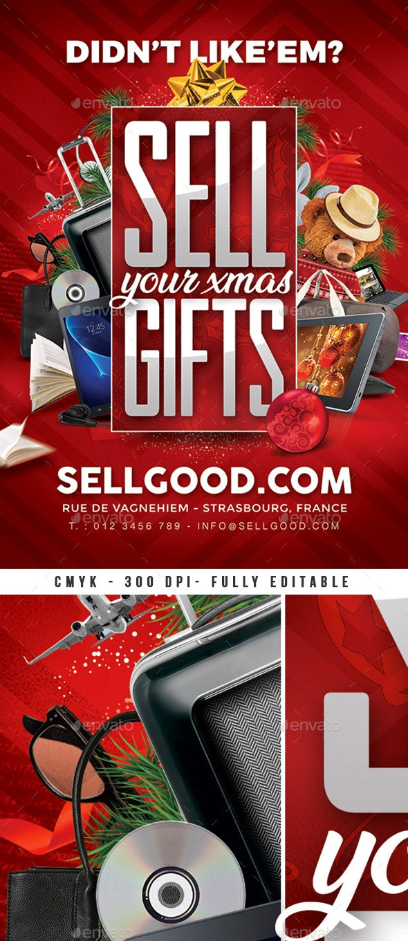 Sell Christmas Gifts Flyer - Holidays Events