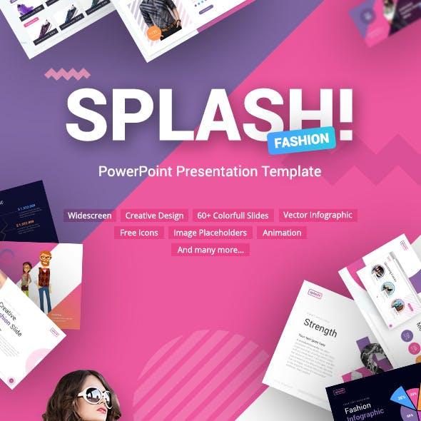Splash Fashion PowerPoint Presentation Template