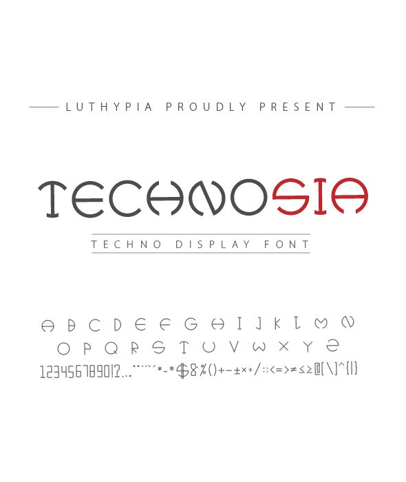 Technosia Display Font - Futuristic Decorative