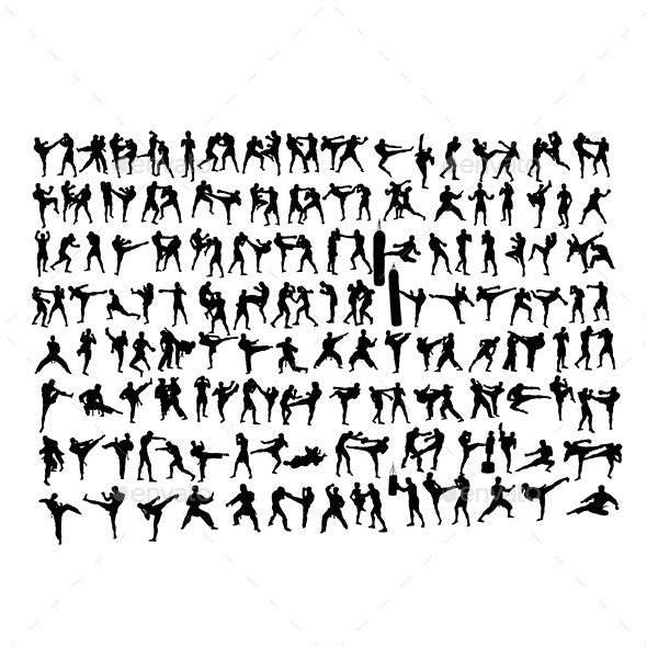 170+ Silhouettes of the Arts of Martial Arts - Sports/Activity Conceptual