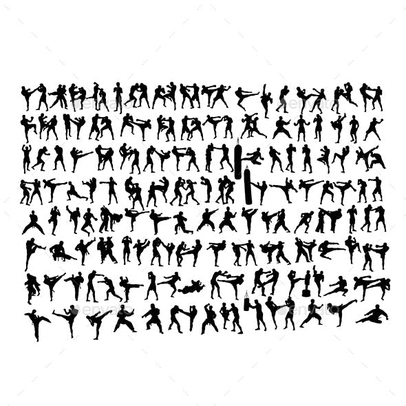 170+ Silhouettes of the Arts of Martial Arts