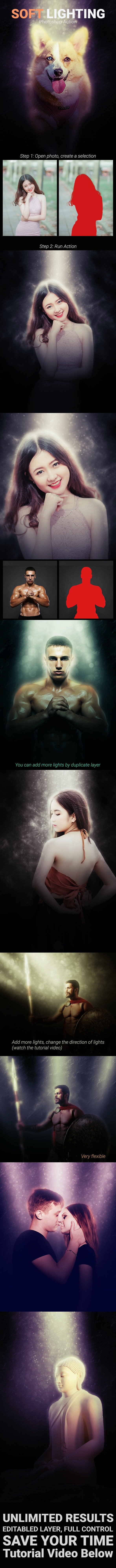 Soft Lighting - Photo Effects Actions