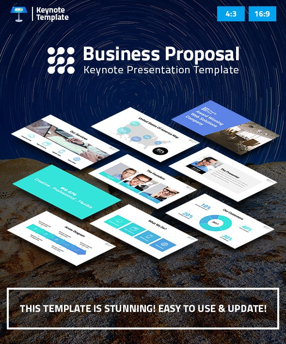 Business Proposal Keynote Pitch Deck - Business Keynote Templates