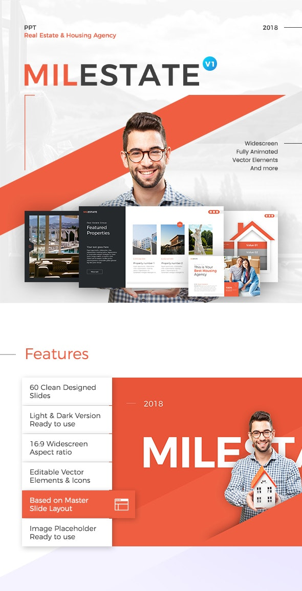 Milestate Real Estate PowerPoint Presentation Template - PowerPoint Templates Presentation Templates
