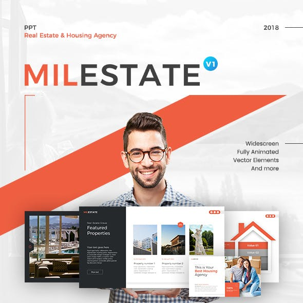 Milestate Real Estate PowerPoint Presentation Template