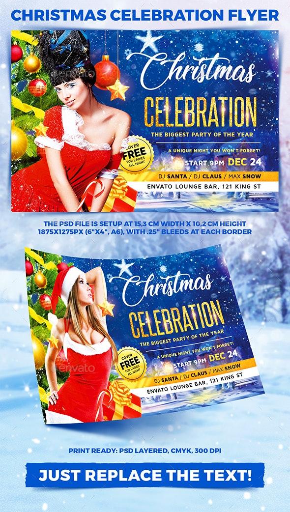Christmas Celebration Party Flyer vol.3 - Holidays Events