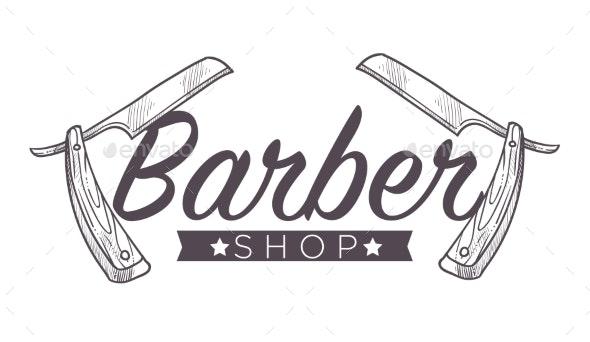 Barber Shop Label - Miscellaneous Vectors