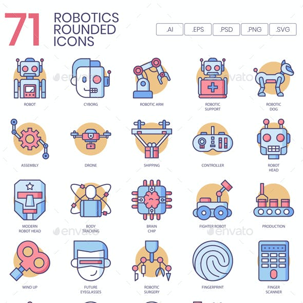 Robotics Icons - Rounded