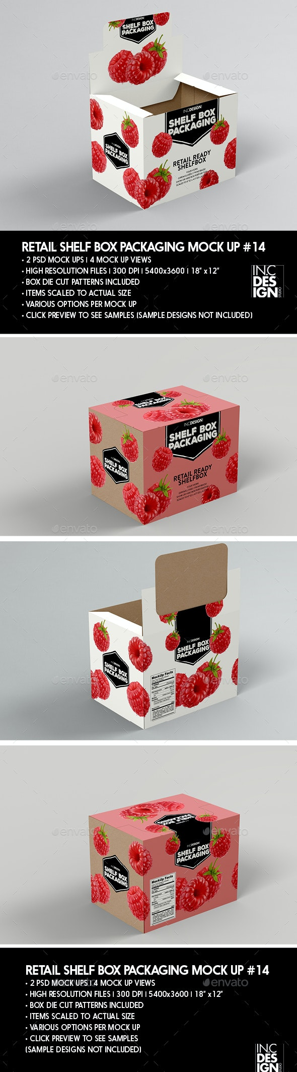 Retail Shelf Box Packaging MockUp No.14 - Packaging Product Mock-Ups