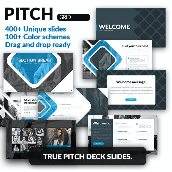 Grid - Pitch Deck Google Slides Template