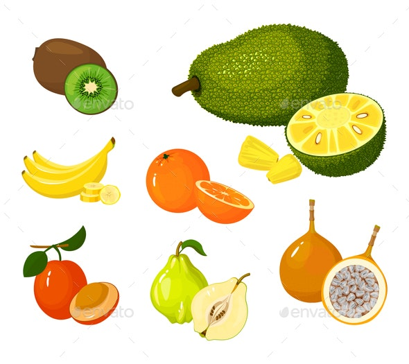 Tropical Exotic Fruits - Food Objects
