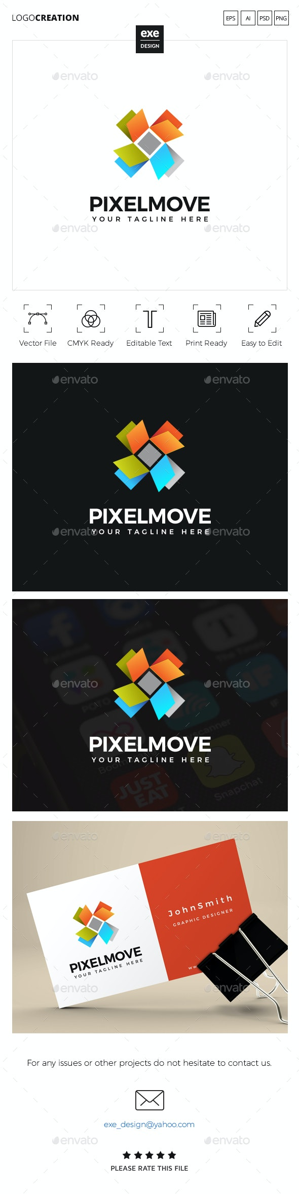 Pixel Logo - Abstract Logo Templates
