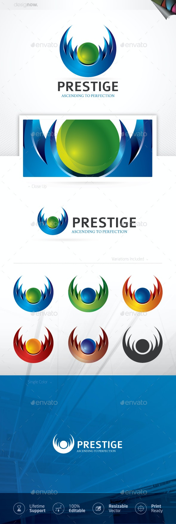 Prestige Circular Logo - Company Logo Templates