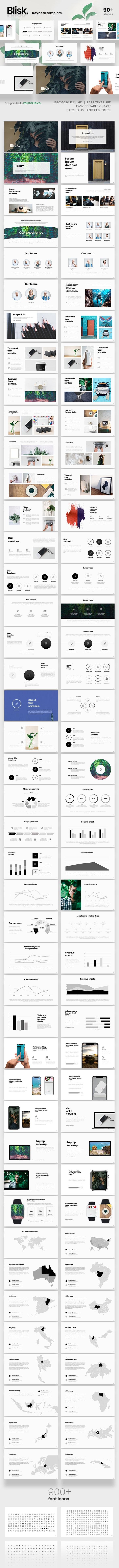 Blisk Keynote Presentation Template - Keynote Templates Presentation Templates
