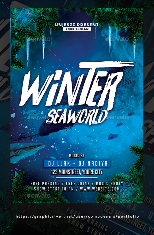 Winter Seaworld Flyer - Clubs & Parties Events