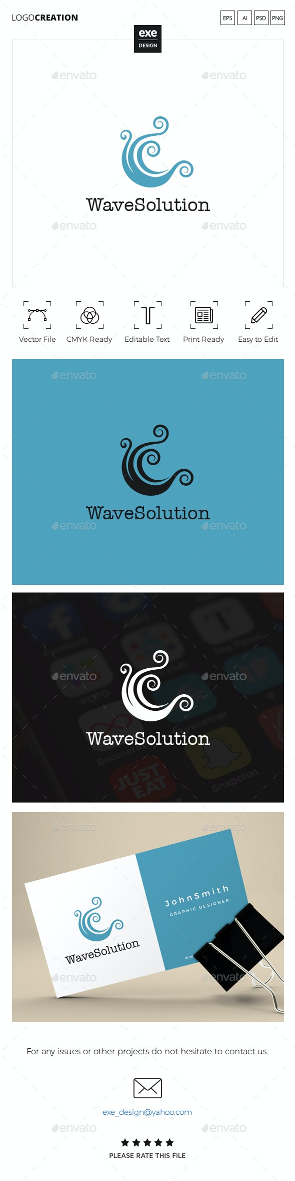 Wave Logo - Nature Logo Templates