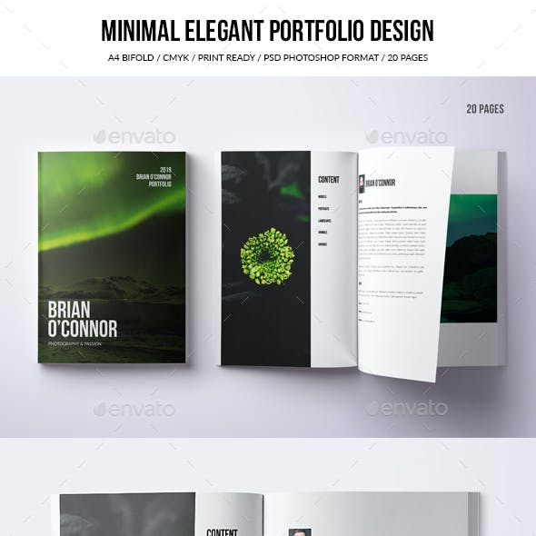 Minimal A4 Bifold Portfolio - 20 pages