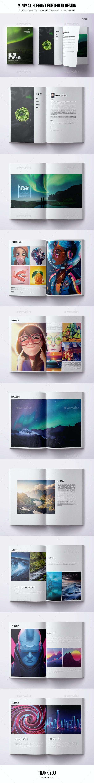Minimal A4 Bifold Portfolio - 20 pages - Portfolio Brochures