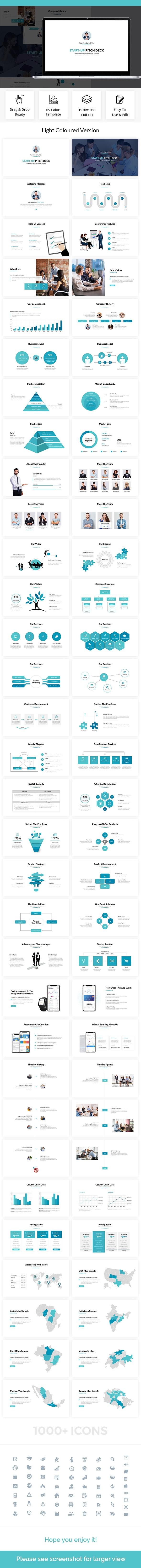 Start-Up Pitch Deck Powerpoint Template 2018 - PowerPoint Templates Presentation Templates