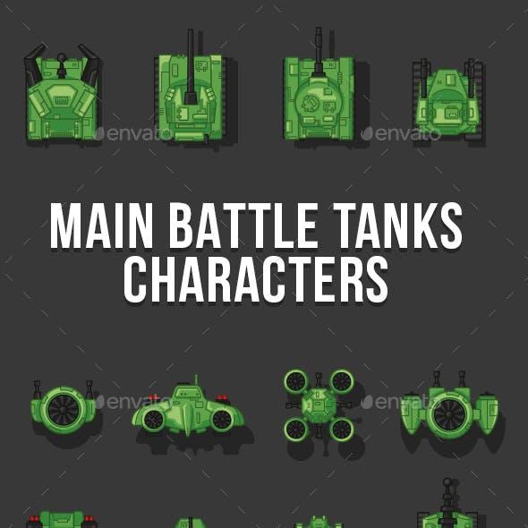 Main War Tank Characters