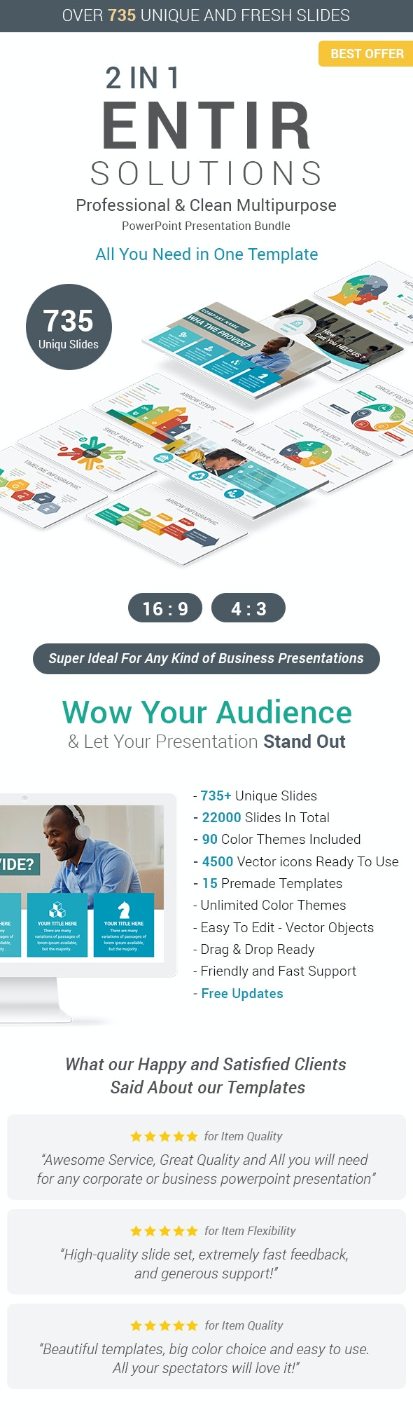 Entire Solutions - 2 In 1 Best PowerPoint Templates Bundle - Business PowerPoint Templates