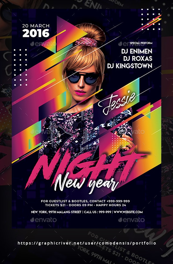 New Year Night Flyer Templates - Clubs & Parties Events