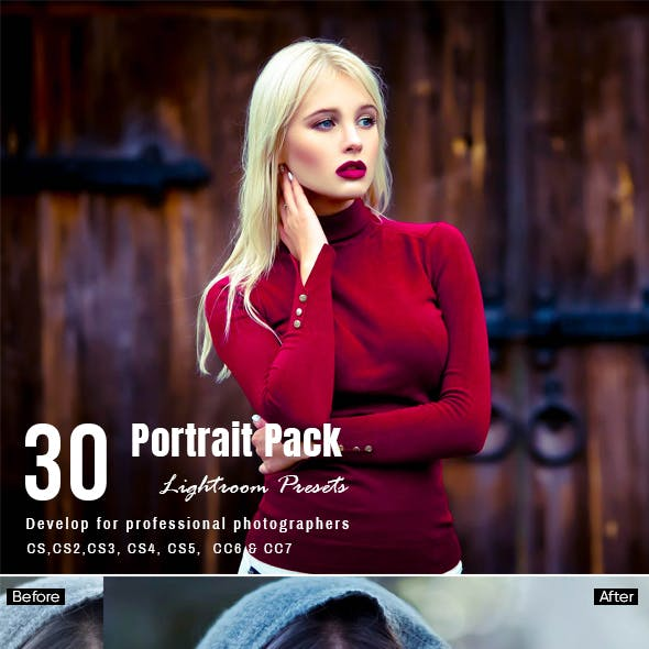 30 Portrait Lightroom Presets Pack