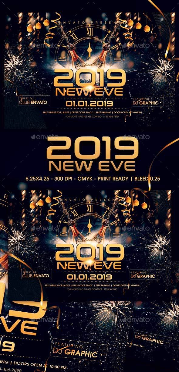 2019 New Year Eve V2 - Clubs & Parties Events