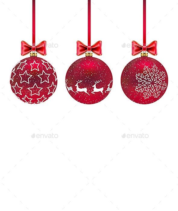 Three Christmas Balls - Christmas Seasons/Holidays