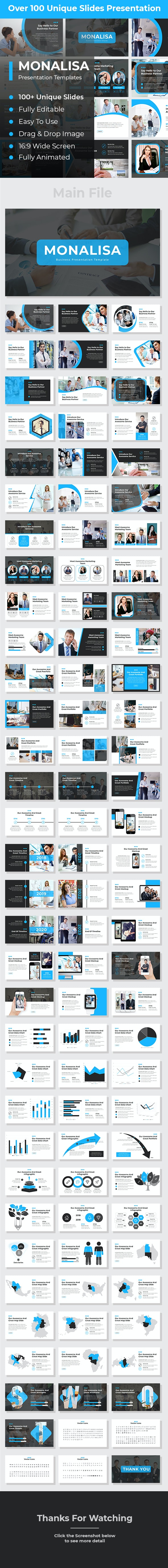 Monalisa Business PowerPoint - Business PowerPoint Templates