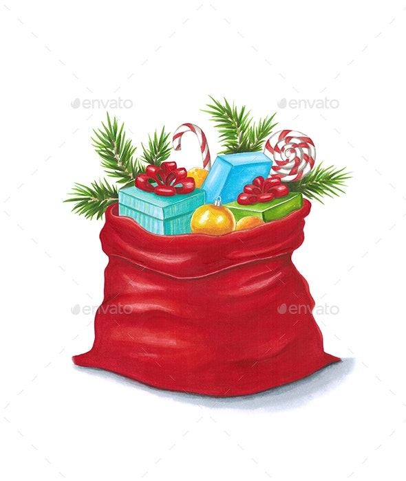 Santa Sack - Illustrations Graphics