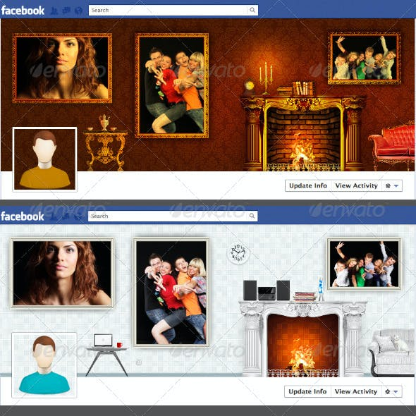 Classic and Modern Facebook Timeline