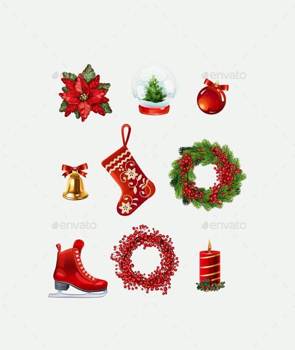 Highly Detailed Christmas Icons. - Seasonal Icons